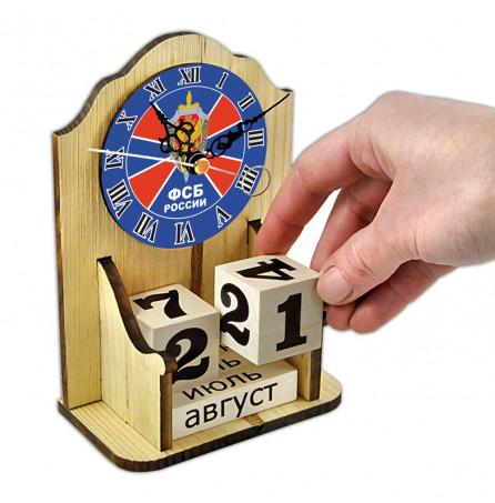 """Вечный календарь """" ФСБ России"""" с часами"""