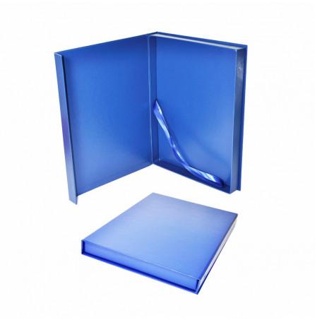 Футляр под плакетку с клапаном на магните, синий