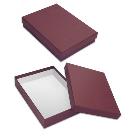 Коробка под ежедневник (бордовая)
