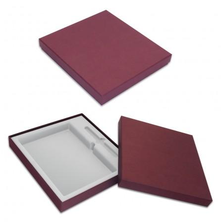 Коробка под ежедневник и ручку (бордовая)