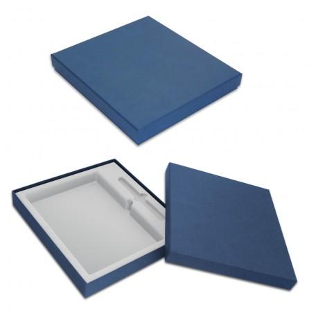 Коробка под ежедневник и ручку (синяя)