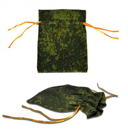 Подарочный мешок цвета хаки, малый (105х130мм)