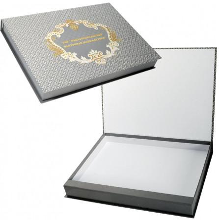Коробка подарочная под мужской шарф и кашне (Павловопосадские платки)