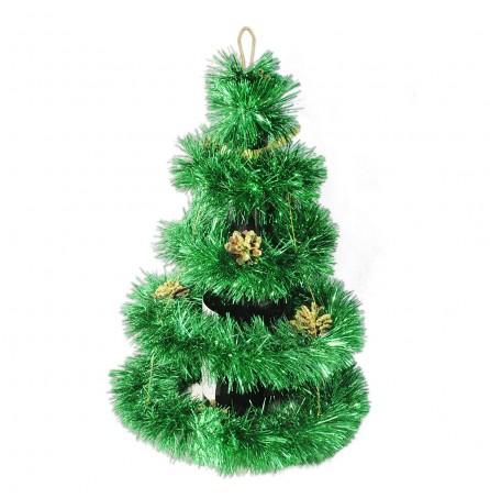 Новогоднее украшение на бутылку (зелёное)