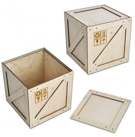 Коробка-ящик под подарок (большой) 125х125х127мм