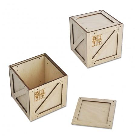 Коробка-ящик под подарок (малый) 95х95х95 мм
