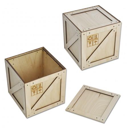 Коробка-ящик под подарок (средний) 112х112х115 мм