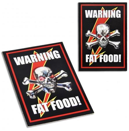 Магнит «Warning fat food!»