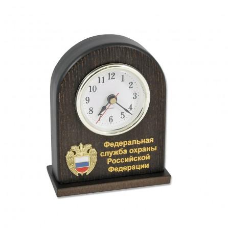"""Настольные деревянные часы """"ФСО РФ"""""""